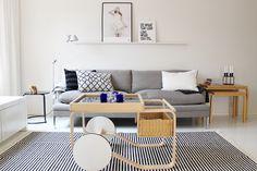 Black and white / Living room / Vee Speers / Artek / Valanti / Tikau / Artemide Tolomeo