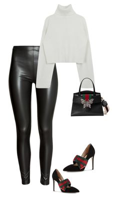 """""""Untitled #278"""" by sb187 ❤ liked on Polyvore featuring H&M and Gucci"""
