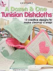 Crochet - A Dozen & One Tunisian Dishcloths - #A874503