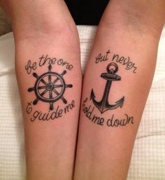 be the one to guide me, but never hold me down...tattoo tatouage
