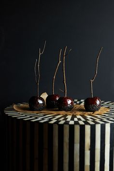 An Apple a Week: Black Sugar Candy Apples Try as you might, you'll be hard-pressed to find...