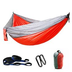 Outdoor Hiking  Camping Hammock with 2 Heavy Duty 32 Loops 16 Loops Each Tree Straps by Yitongxing  Parachute Lightweight Hammock C6 >>> ** AMAZON BEST BUY ** #HammockStraps Outdoor Hammock, Camping Hammock, Hammock Straps, Picnic Mat, Double Hammock, Swinging Chair, Outdoor Furniture, Outdoor Decor, Cool Things To Buy