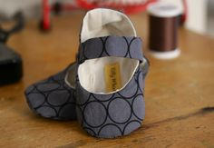 Baby Girl Shoes Grey Circles by TillyWhistle on Etsy, $22.00