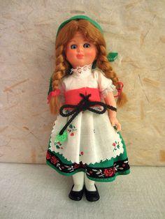 German Rhineland costume doll, folk doll, vintage, European doll, Germany, Rhine