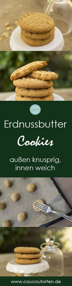 Erdnussbutter Cookies Kekse die außen knusprig und innen weich sind. Super lecker, einfach und schnell gemacht. Bester Erdnussbutter Cookie! Best Peanutbutter Cookie ever, soft inside and crunchy outside.
