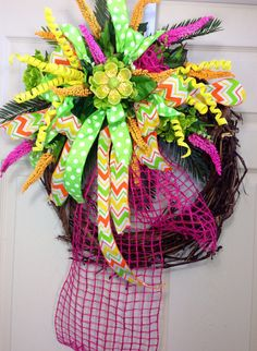 Spring /Summer Grapevine Wreath on Etsy, $60.00