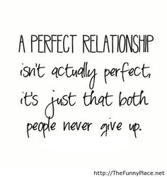 A perfect relationship isn't actually perfect..