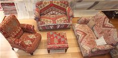 We offer a range of Kilim Upholstered Furniture and all Kilims used in our products are old and genuine. Since every Kilim is unique, the colouring and motifs will vary from each piece of furniture. Kilim Stools, Sofas and Chairs can be made to order for any size, http://www.rugstoreonline.co.uk/category/19/kilim-furniture