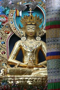 Gold Buddha, Coorg, India
