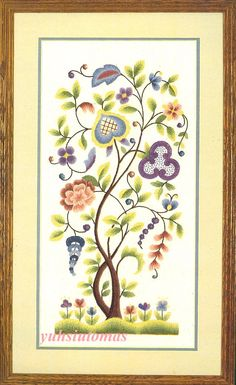 Elsa Williams Crewel Heritage Collection | Elsa Williams Jacobean Panel Stitchery Kit