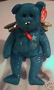 JOY the Green Christmas Angel Bear - Ty Beanie Baby Beanie Bears, Beanie Babies, Green Christmas, Christmas Angels, Ty Bears, Angel Bear, Big Eyes, Beanies, Smurfs