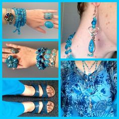 back in blue for January 2014! Millers top and pants, Jewel Divas Jewellery, Rivers shoes.