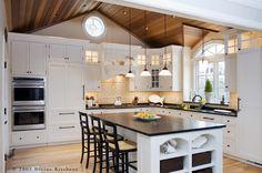 nice ceiling and tile backsplash