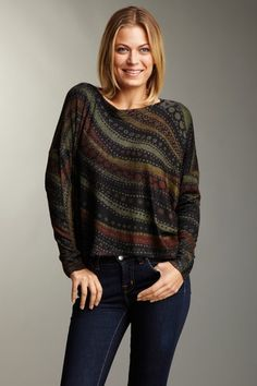 Go Couture  That Wavy Feeling Dolman Sweater