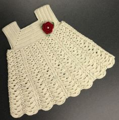 Cream Sunday Dress Crochet             ♪ ♪    ... #inspiration_diy GB