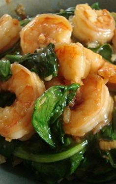 Szechuan Shrimp with Spinach by Kelly Curtis Fish Recipes, Seafood Recipes, Asian Recipes, Dinner Recipes, Cooking Recipes, Healthy Recipes, Asian Foods, Skinny Recipes, Szechuan Recipes