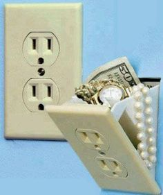Stash box outlet....cool to incorporate in a room