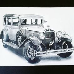 This was an old project that I'm still very proud of  #vintage #car #old #copicmarkers #blackandwhite #realisticdrawing #pendrawings #project Realistic Drawings, Digital Illustration, Be Still, Antique Cars, Illustrations, Boys, Projects, Vintage, Instagram