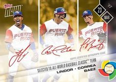 2017 Topps Now #W-CLBD Francisco Lindor / Carlos Correa / Javier Baez Front