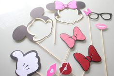 9pc Mickey and Minnie Inspired Photo Booth by ThePartyGirlStudio