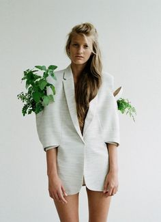 lol i dont think she likes the plants growing on her blazer