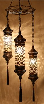 Turkish Style - Ottoman Lighting - mediterranean - chandeliers - other metro - Hedef Aydınlatma