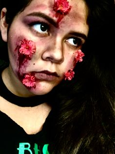 Halloween Flower Child Gore SFX Makeup