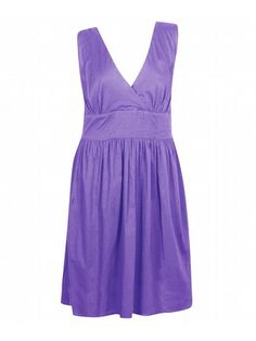 So Solid Light Purple Dress