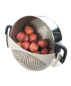 Look at this Silver Pot Drainer on #zulily today!