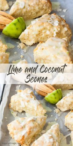 *** feb Add extra lime and add coconut on top before baking. Lime and Coconut Scones make for a vibrant and somewhat tropical breakfast or brunch. Making scones is simple with this easy scone recipe. How To Make Scones, Making Scones, Desserts Keto, Lime Desserts, Coconut Desserts, Coconut Recipes, Party Desserts, Baking Recipes, Scone Recipes