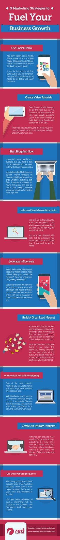9 #Marketing Strategies for Explosive #Business Growth #Infographic