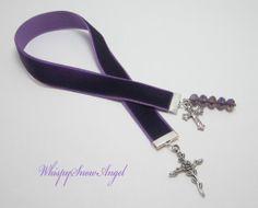 Christian Purple Velvet Ribbon Bookmark Vine by WhispySnowAngel, $10.00