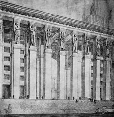 Ivan Fomins design for some sort of a workers palace in Moscow that seems to have been planned for the red square.
