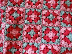 Granny Square Detail by Lone_Knitter, via Flickr