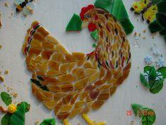 nice chickens. and papercrete garden sculptures