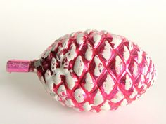 Vintage Large Pink Pinecone Christmas Ornament 1920's Germany