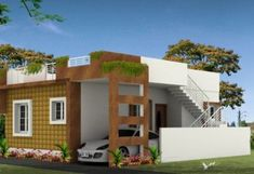 Home - Fow World Properties & Real Estate Development Two Story House Design, House Front Design, Kerala House Design, Unique House Design, South Facing House, House Plans Mansion, Property Real Estate, Kerala Houses, Real Estate Development