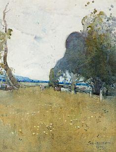 Sydney Long (Australian, 1871-1955), Pastoral, 1909.