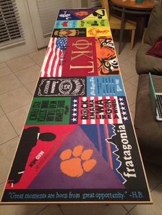 17 Creative Painted Beer Pong Table Ideas - Page 4 of 17 Custom Beer Pong Tables, Beer Table, A Table, Fraternity Coolers, Frat Coolers, Cooler Painting, Diy Painting, College Crafts, Sorority Crafts