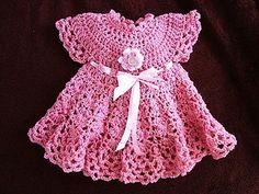 538 pink baby girl dress, newborn to age 6  $4.99