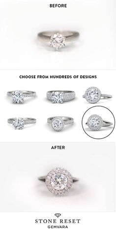 Something old to something new! Transform a loved piece into a new design you'll actually wear with Stone Reset by Gemvara.