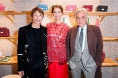 Pierpaolo Piccioli, Christy Turlington Burns, and Giancarlo Giammetti