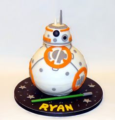 Star Wars Sphero BB8 Droid birthday cake by EvaRose Cakes