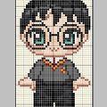 mini Harry Potter figures, free charts.