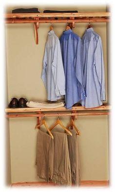 Deluxe Solid Wall Closet Organization Kit 8u0027 | Cedar Closet, Closet System  And Red Cedar