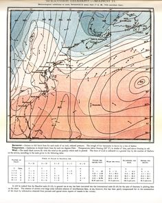 Group B; National Geographic Magazine. The map shows the data of wind direction, temperature and pressure in a storm by using arrows, colouring and line types respectively.