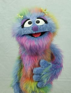 Meet Penelope Monster by The Puppet Workshop Penelope is a sweet little thing and is a professional quality hand puppet and is the smallest
