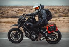 Gorm Taube is a graphic designer and photographer raised on the west coast of Sweden, but currently residing in Ventura, California. When he decided to move to the US he made the decision to purchase a bike for his commuting, so he found a killer dea Ducati Scrambler Custom, Scrambler Motorcycle, Motorcycle Style, Motorcycle Camping, Yamaha R1, Cafe Racer Bikes, Cafe Racers, Harley Davidson Motorcycles, Cars And Motorcycles