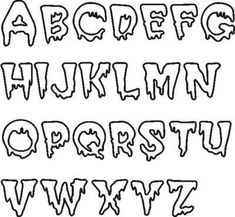 9 Best Images of Printable Scary Letters - Scary Alphabet Letters Templates, Halloween Embroidery Font and Spooky Halloween Alphabet Letters Cool Fonts Alphabet, Alphabet Letter Templates, Hand Lettering Alphabet, Graffiti Alphabet, Grafitti Letters, Letter Fonts, Graffiti Lettering Fonts, Tattoo Lettering Fonts, Doodle Lettering