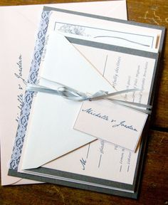 Romantic Lace Hydrangea - Blush and Gray Wedding Invitation Suite by Forget Me Knot Paperie on Etsy, $100.00